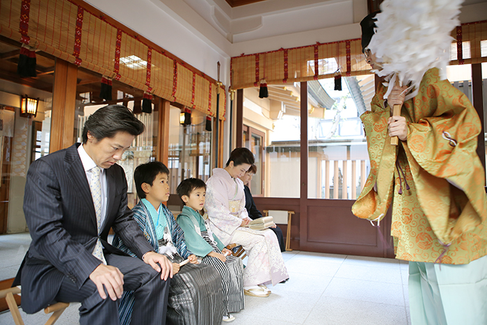 高輪神社で七五三撮影2