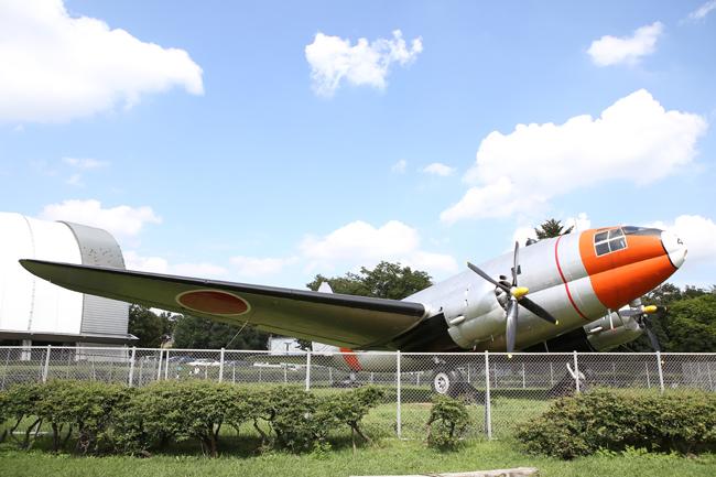 航空公園の飛行機