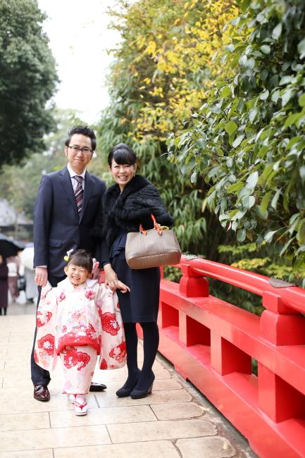 大宮氷川神社で七五三の出張撮影1