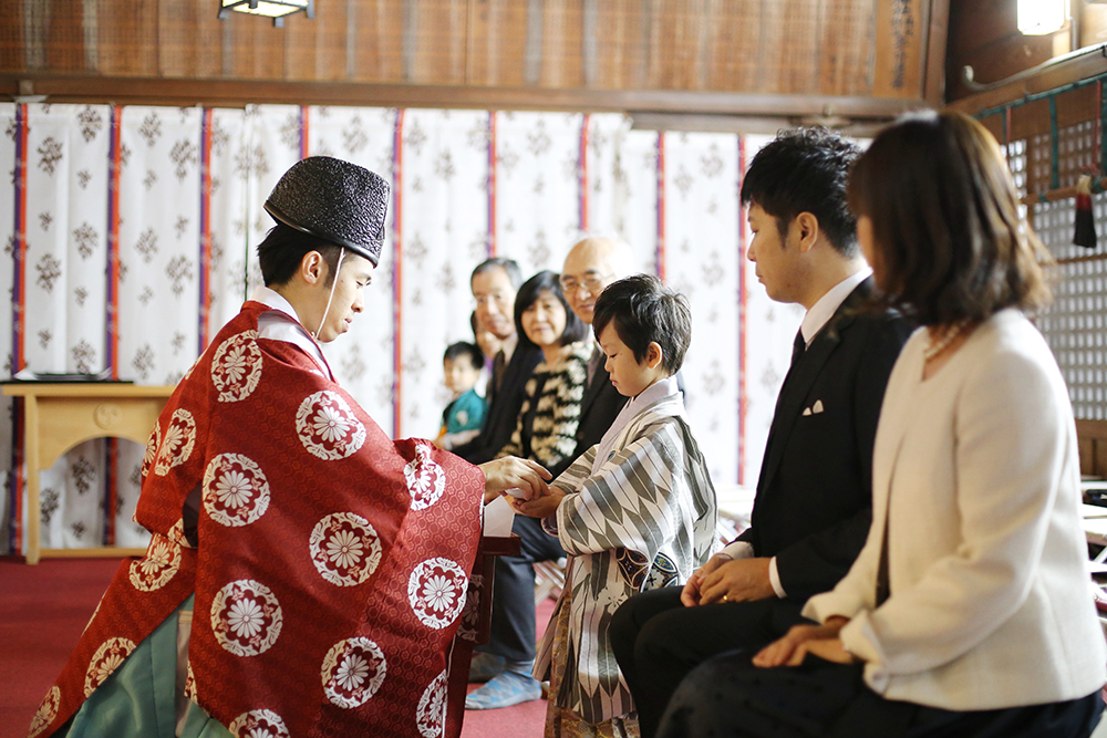 鳩ヶ谷神社で七五三
