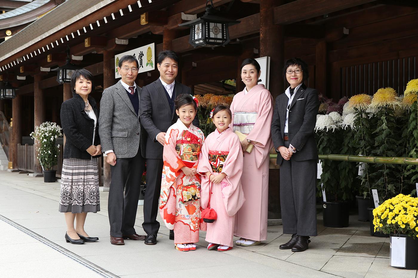 寒川神社で七五三撮影