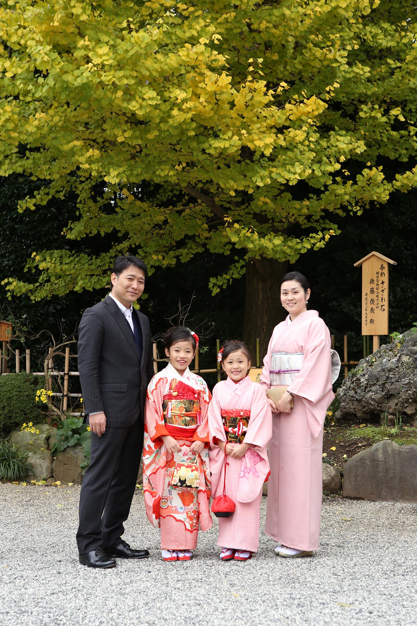 寒川神社で七五三出張撮影