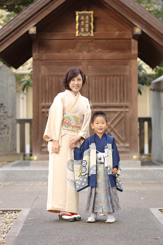 富岡八幡宮で5歳七五三