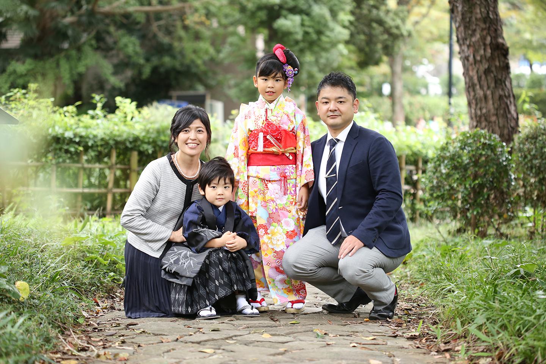 七五三 家族写真の撮影