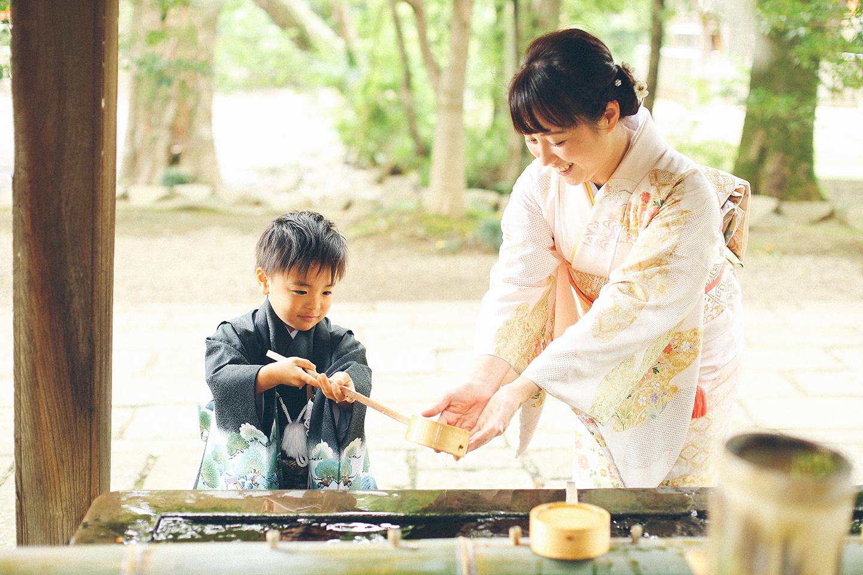 大宮氷川神社で5歳七五三