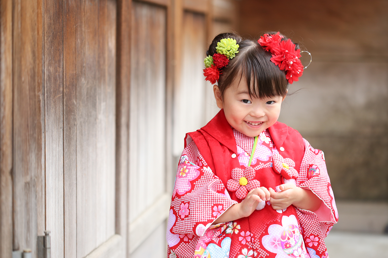 牛嶋神社に七五三の出張撮影
