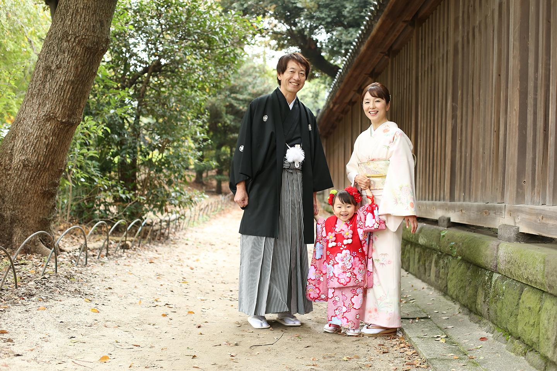 墨田区の牛嶋神社で七五三撮影
