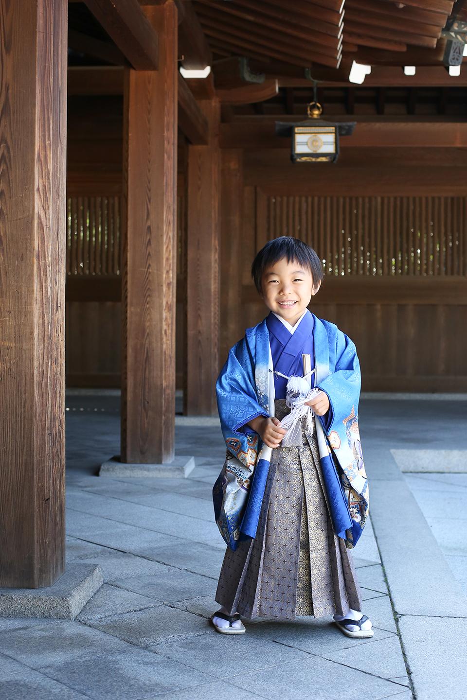 渋谷で5歳七五三