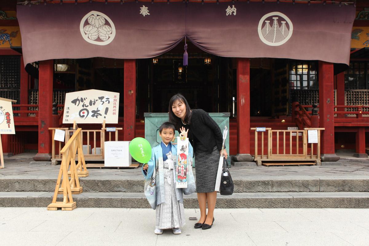 浅草神社で七五三記念