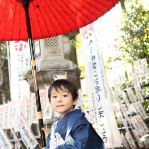 素盞雄神社(スサノオ神社)に七五三の出張撮影