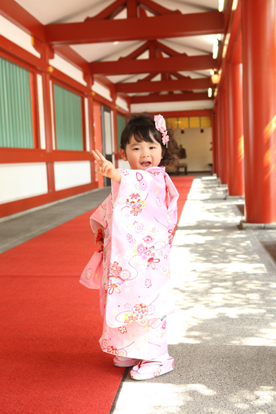 赤坂日枝神社で撮影した3歳七五三のお写真です