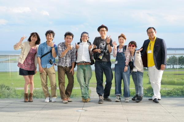 葛西臨海公園でみんなで記念写真