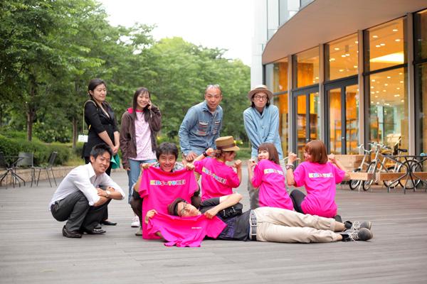 東京ミッドタウンで記念写真