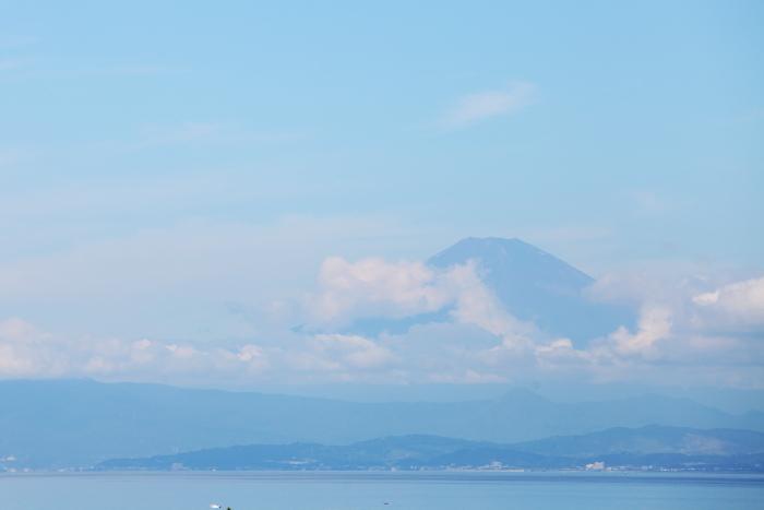 森戸神社から見えた富士山