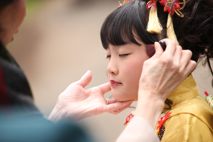 大田区雪ヶ谷八幡神社で七五三1