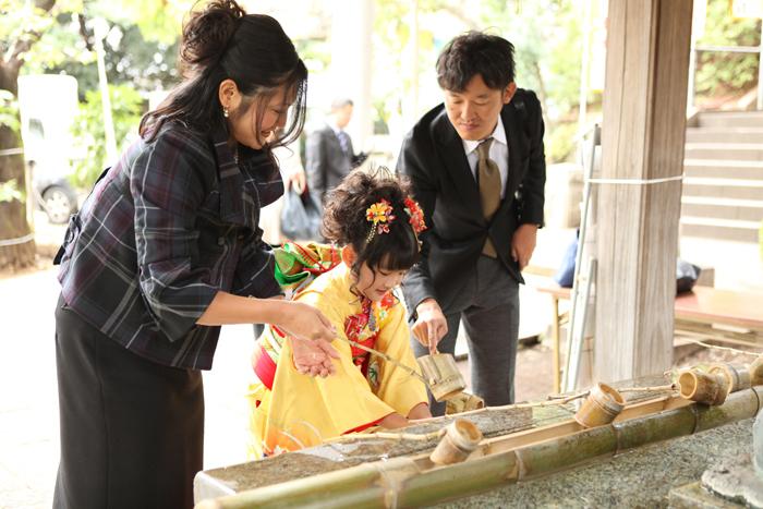 大田区雪ヶ谷八幡神社で七五三5