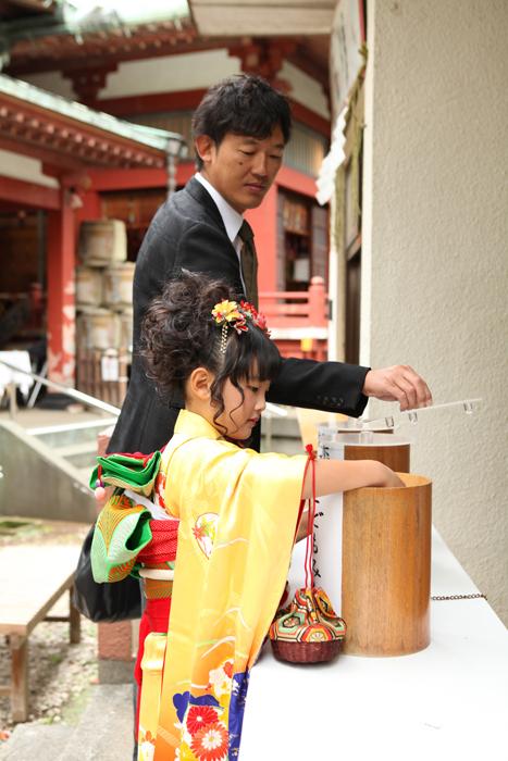 大田区雪ヶ谷八幡神社で七五三7