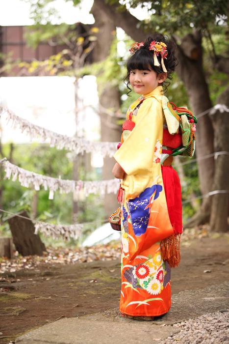 大田区雪ヶ谷八幡神社で七五三11
