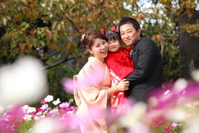 西新井大師で家族写真の撮影