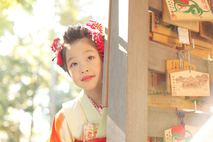 大人っぽいね!世田谷八幡で7歳の七五三出張撮影