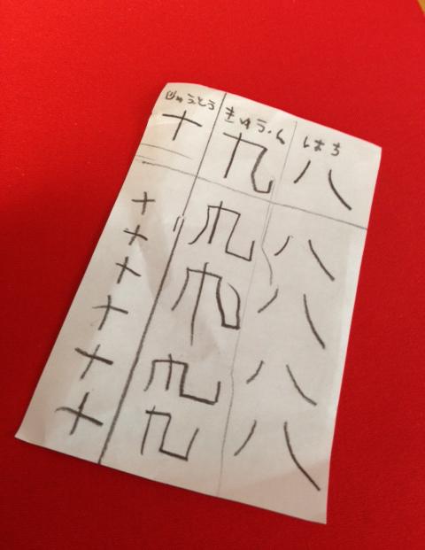 出張撮影KidsPhotoのブログ-漢字