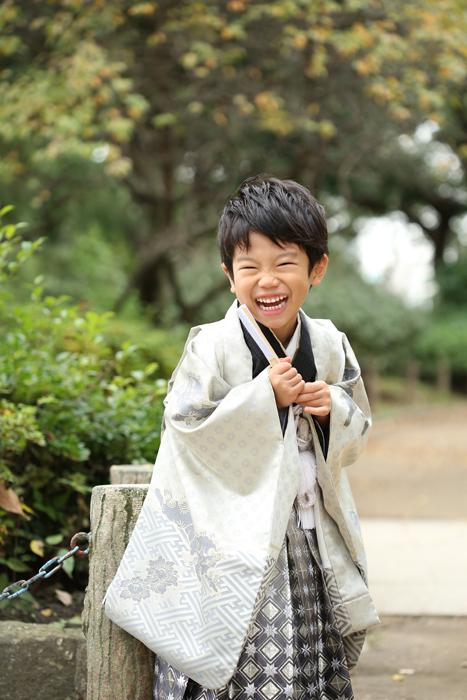 牛嶋神社で5歳男の子の七五三出張撮影4