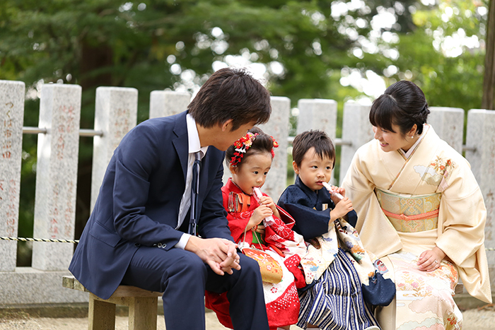 筑波山神社で七五三撮影