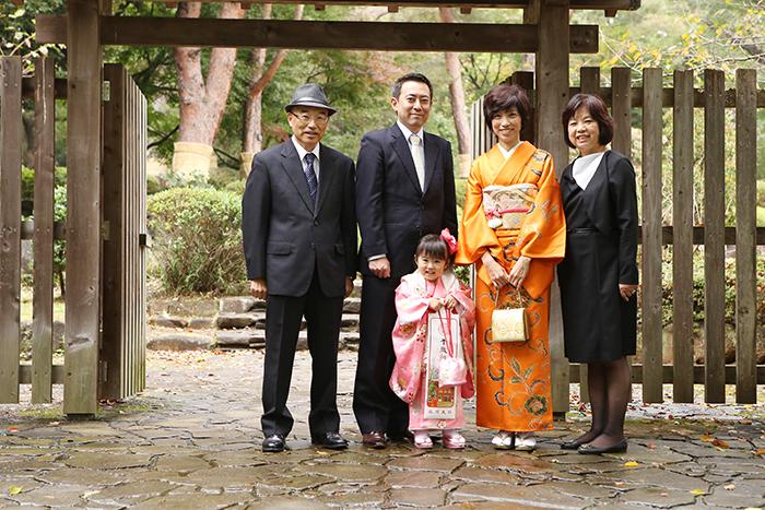 大宮氷川神社で3歳の七五三1