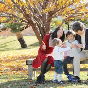 浜離宮恩賜庭園で家族写真の出張撮影