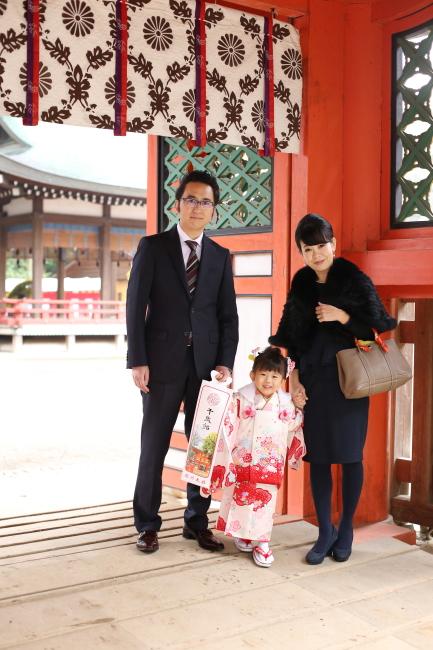 大宮氷川神社で七五三の出張撮影