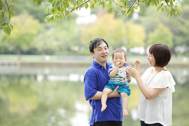 浮間公園で家族写真撮影