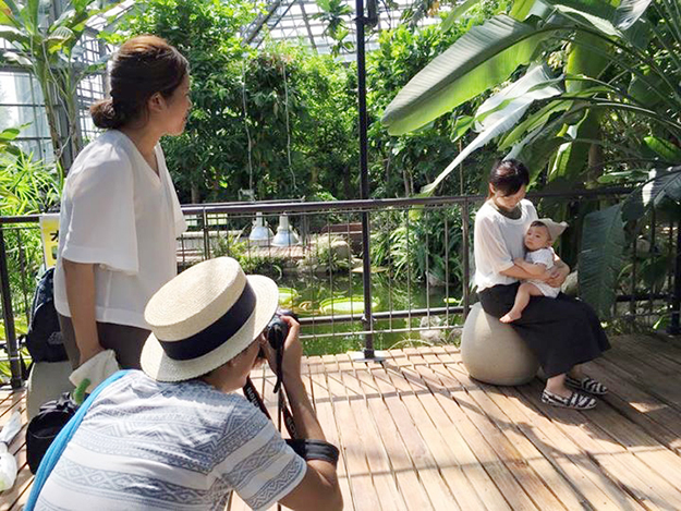 栃木でキッズ撮影会の撮影風景