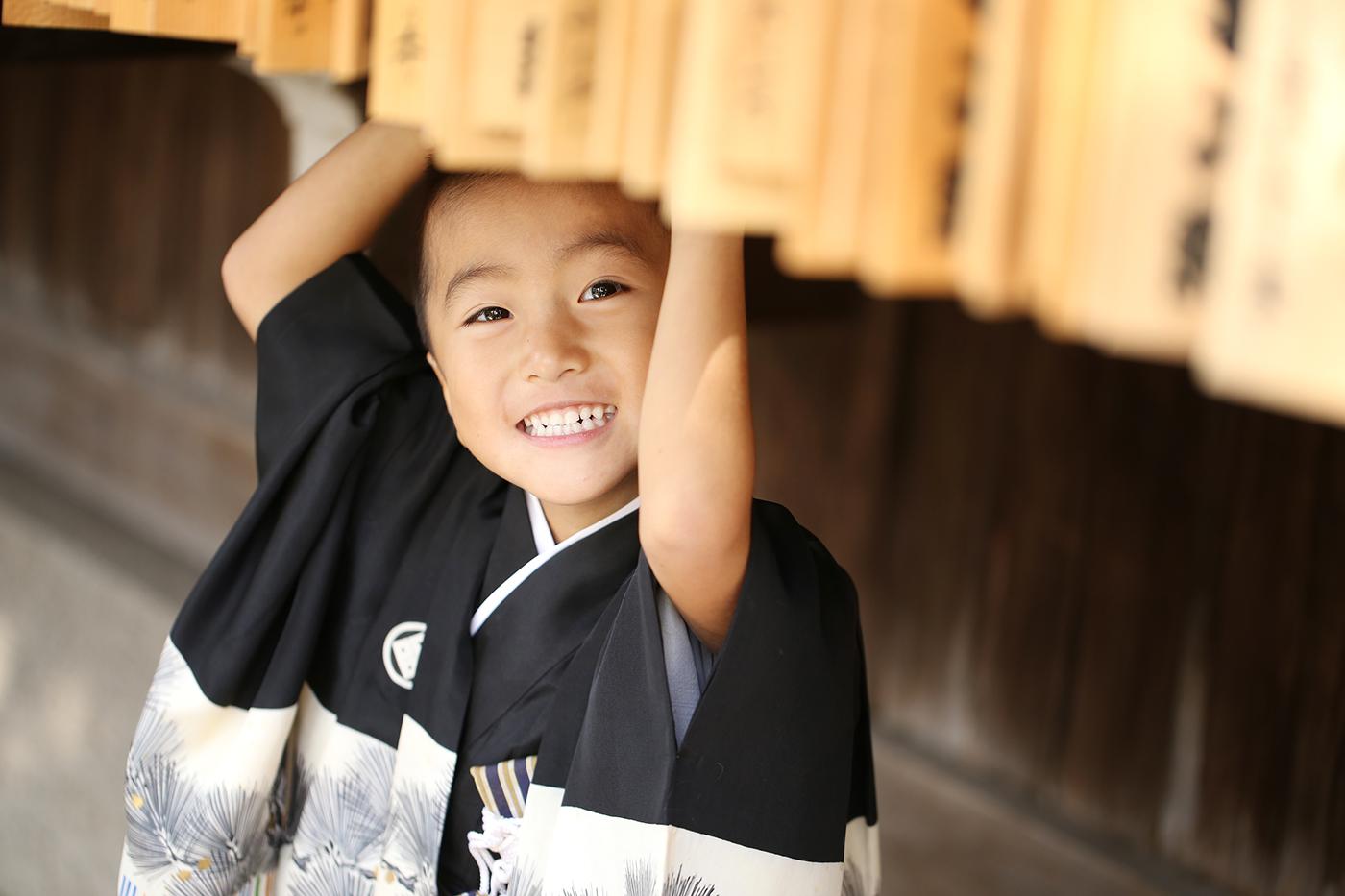 スサノオ神社で七五三写真