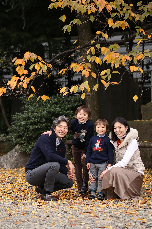 家族写真 紅葉
