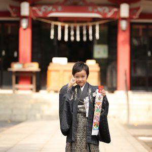 箭弓稲荷神社(東松山)で七五三の出張撮影