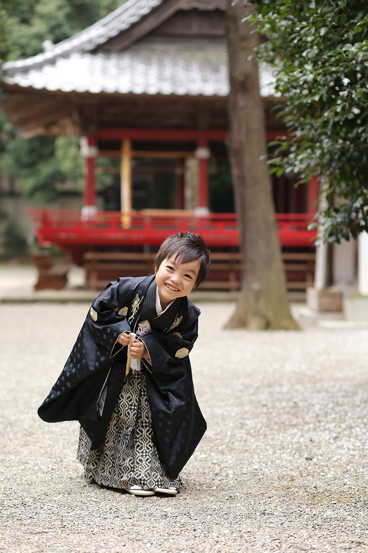 箭弓稲荷神社で5歳七五三の出張撮影