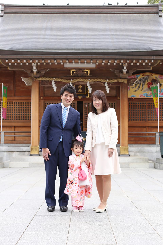 わらび神社で3歳女の子の七五三