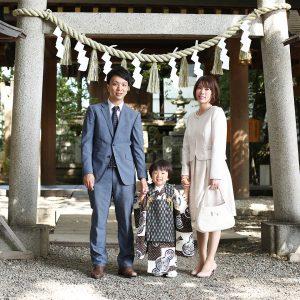 川越氷川神社に七五三の出張撮影〜男の子の被布も可愛い〜