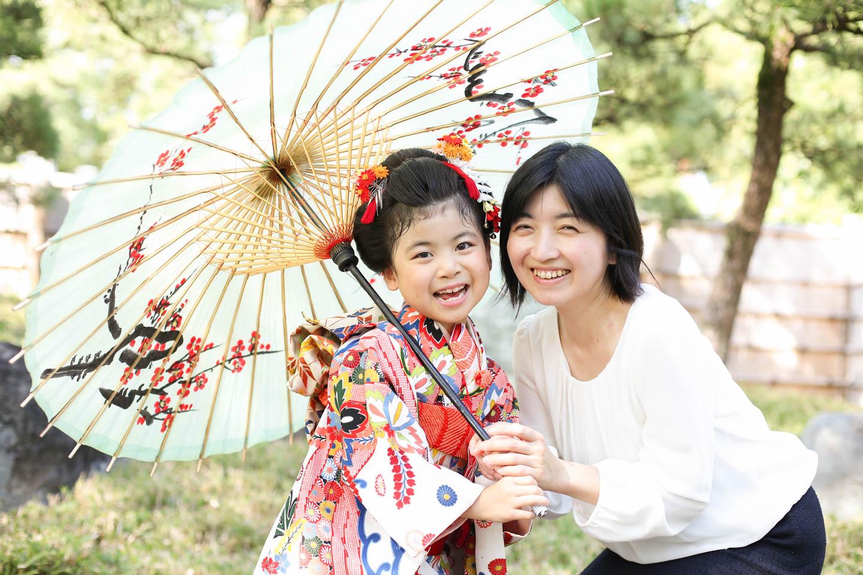 和傘と7歳の七五三
