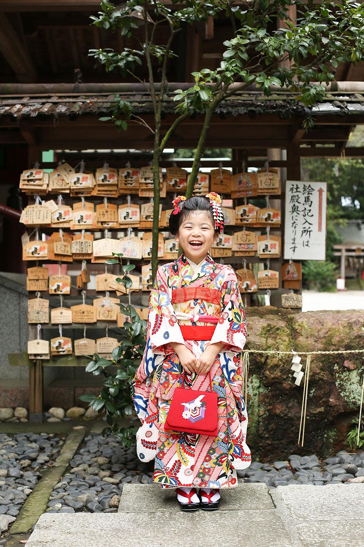 久伊豆神社で7歳の七五三写真