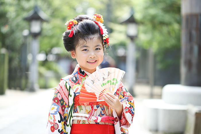 越谷市の久伊豆神社にて七五三の出張撮影