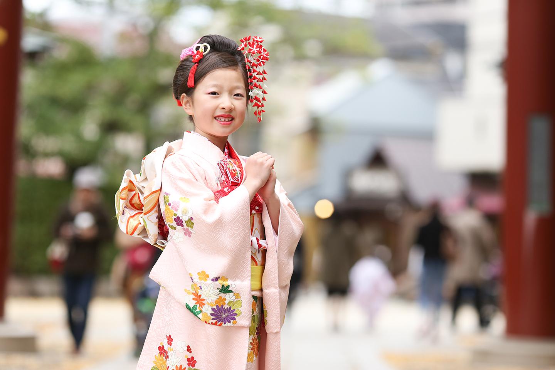 根津神社に七五三の出張撮影