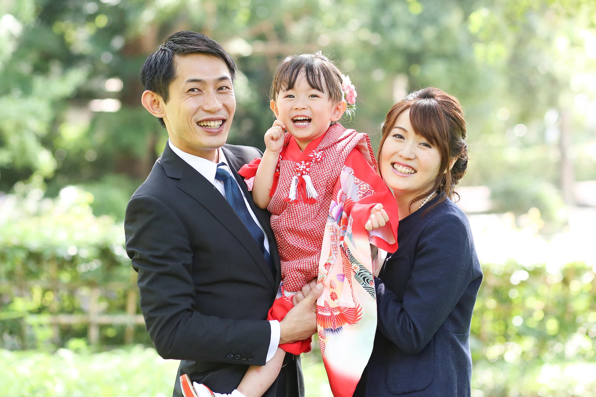 武蔵一宮 氷川神社で家族写真