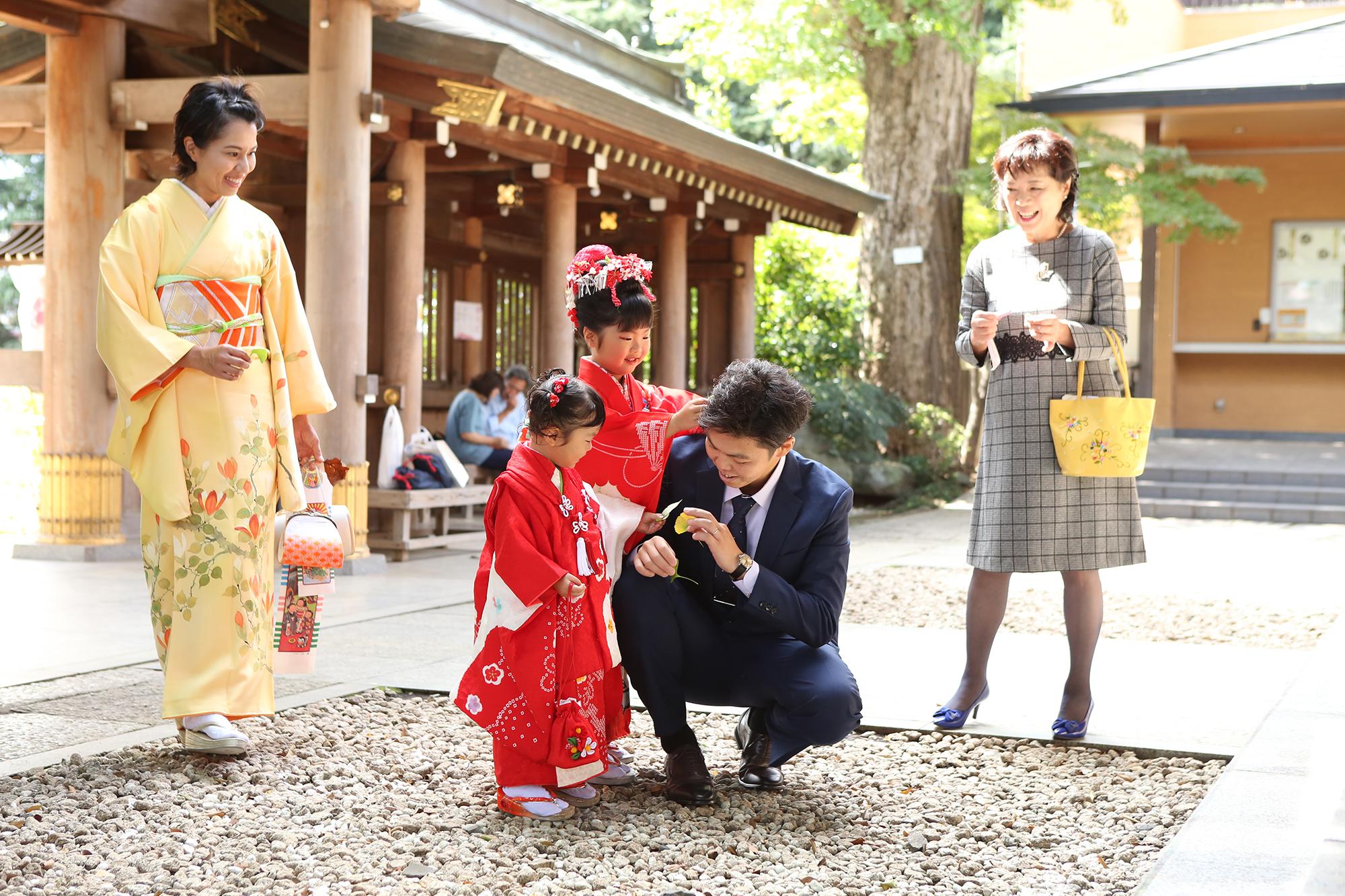 鳩ヶ谷神社の境内で撮影