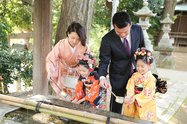 千束八幡神社の手水