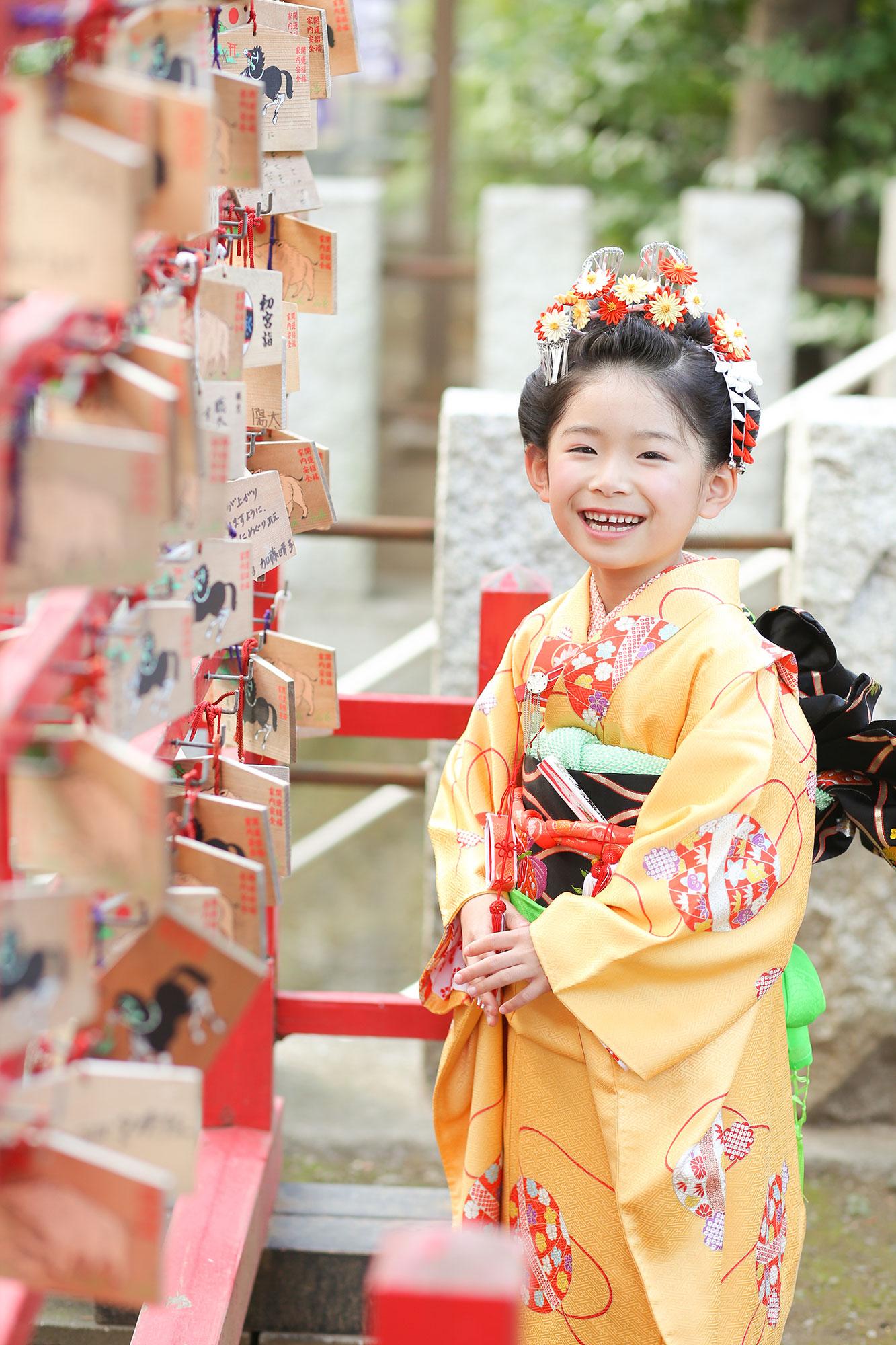 千束八幡神社で七五三撮影