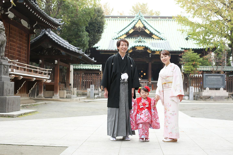 牛嶋神社で七五三の出張撮影
