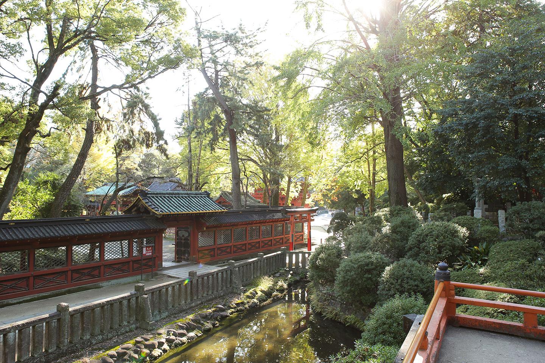 根津神社のロケーション