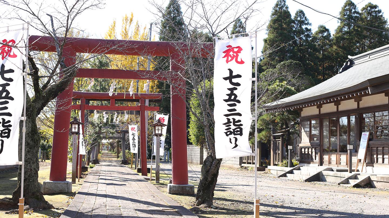 女化神社(女化稲荷神社)の鳥居