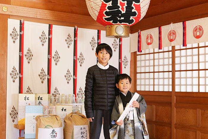 女化神社へ七五三の出張撮影